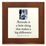 Attitude is Framed Tile