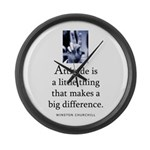 Attitude is Large Wall Clock