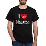 I Love Houston (Front) Black T-Shirt