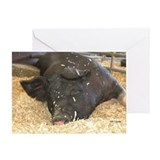 Fine Swine Greeting Card