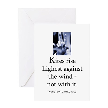 Kites rise Greeting Card