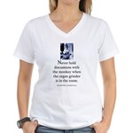 Organ grinder Women's V-Neck T-Shirt