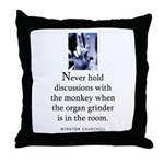Organ grinder Throw Pillow
