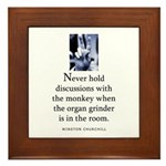 Organ grinder Framed Tile