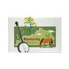 Kentucky Map Rectangle Magnet