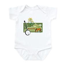 Kentucky Map Infant Bodysuit