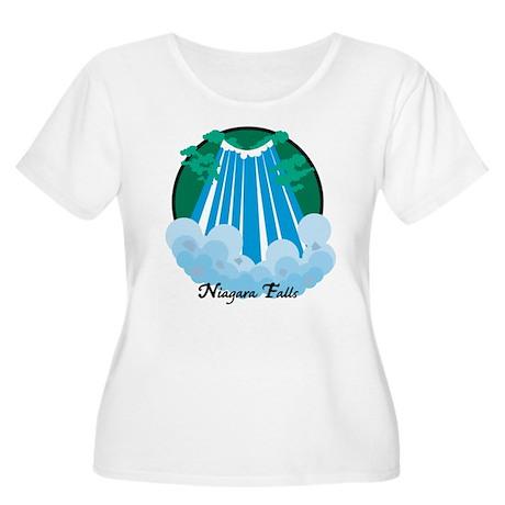 Niagara Falls Women's Plus Size Scoop Neck T-Shirt