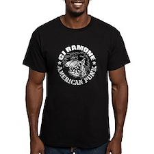 C J Ramone B&W Fitted T-Shirt (dark)