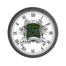 Ferguson Tartan Shield Wall Clock