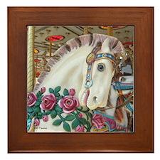 Roached & Roses Carousel Hors Framed Tile