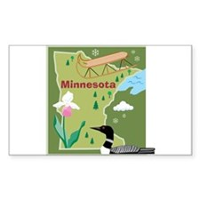 Minnesota Map Rectangle Decal