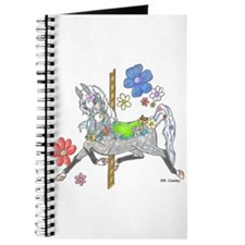 Carousel Horse Flowers Journal