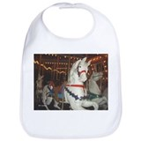 Carousel Horses at night Bib