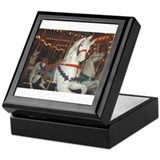 Carousel Horses at night Keepsake Box