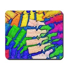 Colorful Spine Art Mousepad