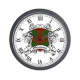Erskine Tartan Shield Wall Clock