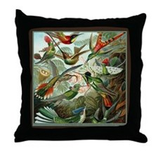 """Hummingbird Print"" Throw Pillow"