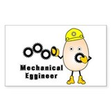 Mechanical Eggineer Rectangle Decal