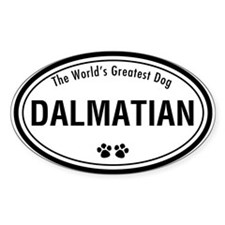 Dalmatian Oval Decal
