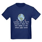 Best Daddy On Earth Kids Dark T-Shirt