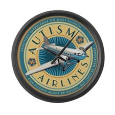 Autism Airlines Large Wall Clock