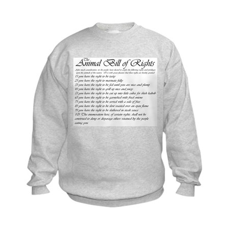 Animal Bill of Rights Kids Sweatshirt
