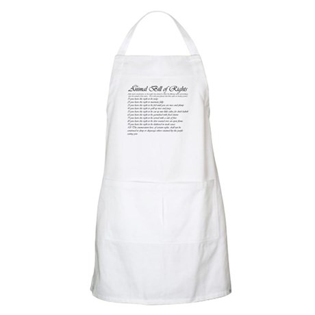 Animal Bill of Rights BBQ Apron