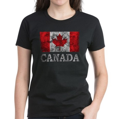 Vintage Canada Women's Dark T-Shirt