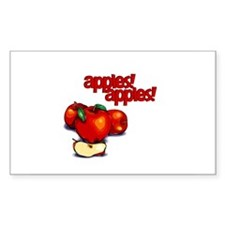 """Apples! Apples!"" Rectangle Sticker 10 pk)"