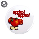 &quot;Apples! Apples!&quot; 3.5&quot; Button (10 pack)