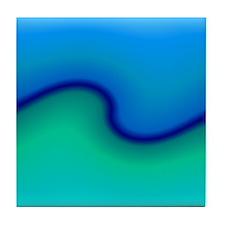 Water, Waves, Beach Tile Coaster