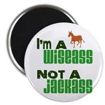 """Wiseass, Not Jackass"" 2.25"" Magnet (10 pack)"