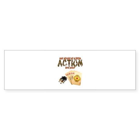 """Afraid of Action"" Bumper Sticker (50 pk)"