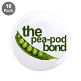 """Pea-Pod Bond"" 3.5"" Button (10 pack)"