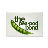 """Pea-Pod Bond"" Rectangle Magnet (10 pack)"