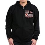 YES! Give Me Moore 4 Governor Zip Hoodie (dark)
