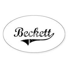 """""""Beckett Team"""" Oval Decal"""