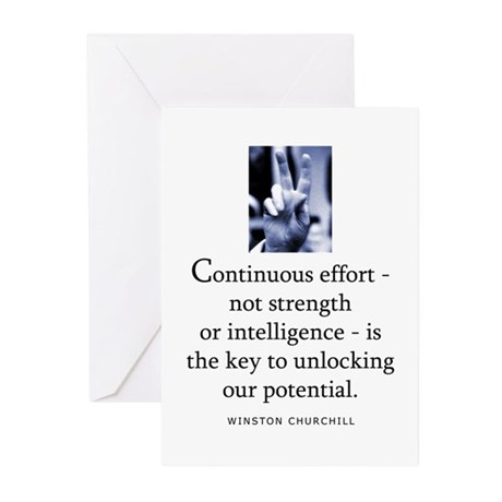 Continuous effort Greeting Cards (Pk of 10)