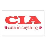 CIA cute in anything roses Rectangle Sticker