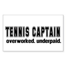 TENNIS CAPTAIN Rectangle Stickers