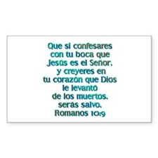 Romanos 10:9 Rectangle Sticker 50 pk)