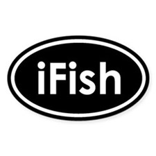 I Fish Oval Decal