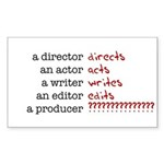 Film &amp; TV Producer Rectangle Sticker