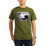 Sleepy Kitty Organic Men's T-Shirt (dark)