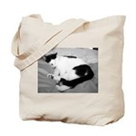 Sleepy Kitty Tote Bag