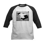Sleepy Kitty Kids Baseball Jersey
