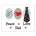 Peace Love Dad Small Poster