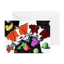 GOTCHA! Holiday Brittany Dog Greeting Cards (10p)