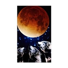 Three Wolf Moon Rectangle Sticker 10 pk)