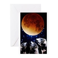 Three Wolf Moon Greeting Cards (Pk of 10)